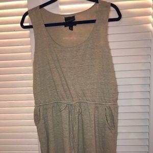 Cynthia Rowell Khaki Linen Tunic w/ Pockets SZ XL